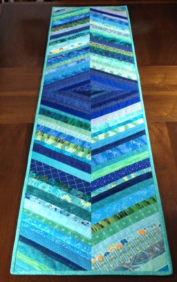 Strippy Turquoise Runner Front